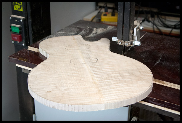 Rough cut the body shape on the band saw