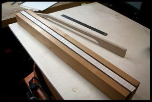 The neck blank after passing through the planer