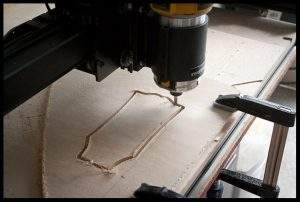 Making the headstock shape template on the CNC