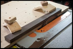 Cutting the wenge to fretboard dimensions
