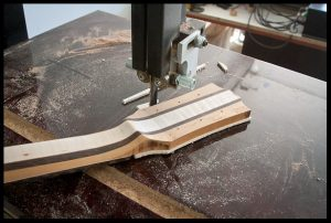 Excess is trimmed on the band saw