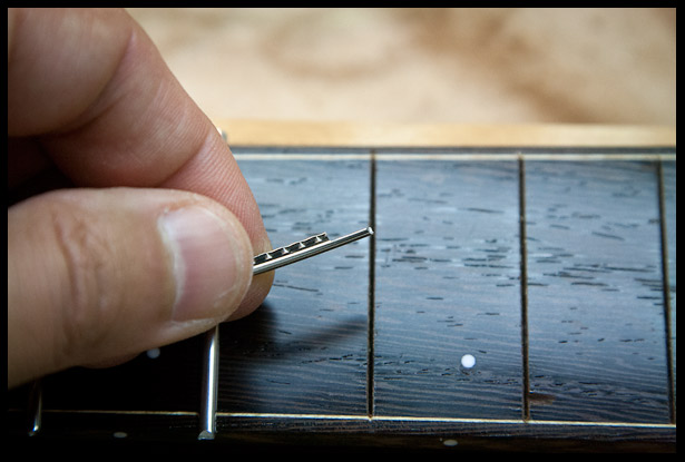 Trimming the fret tang