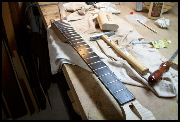 Frets are installed