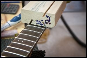 Beveling the fret ends