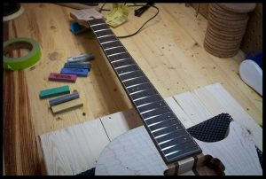 cleaning the frets